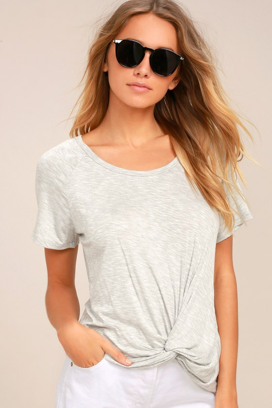 Basic is Best Heather Grey Tee 2