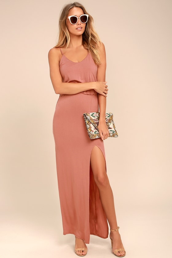 Watch the Sunset Rusty Rose Maxi Dress 1