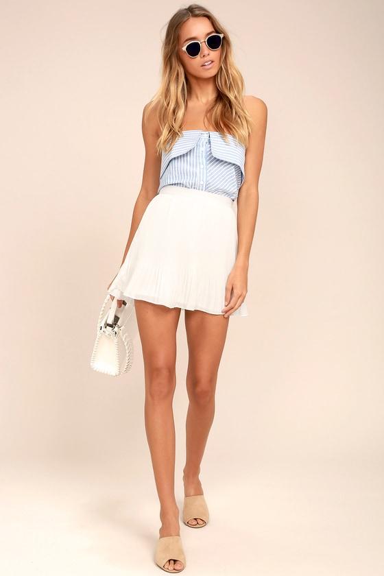 a90bc706a Cute White Skirt - Pleated Skirt - Mini Skirt - Pleated Mini Skirt