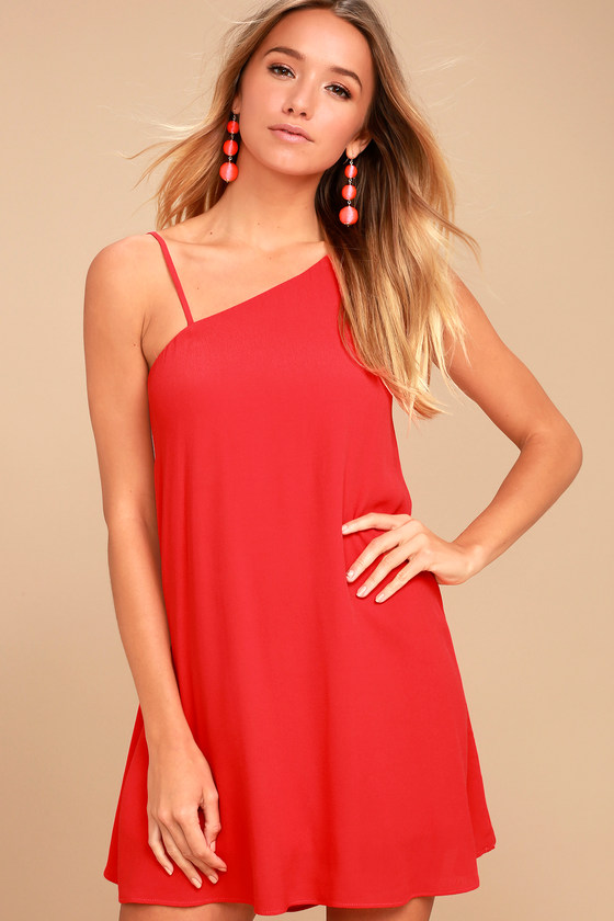 Nights in Paradise Coral Red Swing Dress 1