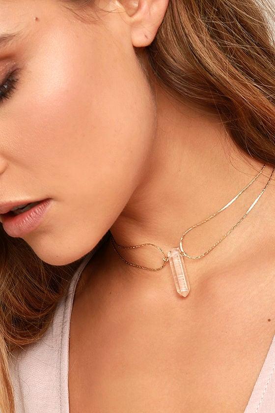 Tranloev Crystal Countessa Gold Choker Necklace 2