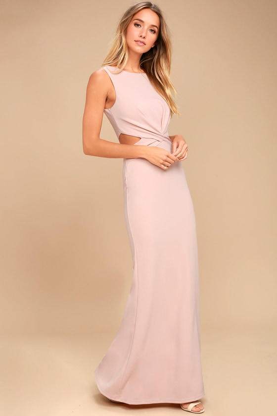 b5e5afa734 Sexy Blush Dress Maxi Dress Cutout Dress Nude Maxi | 2019 trends ...