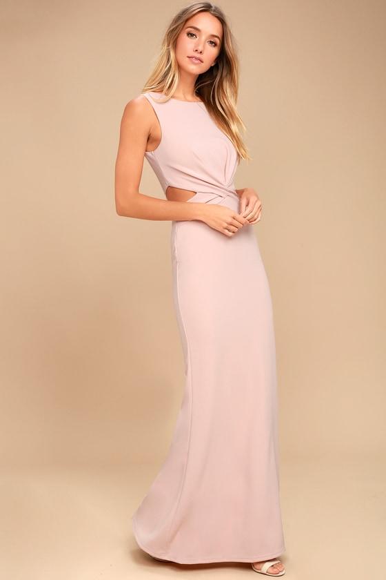 8e833610de3ec Sexy Blush Dress - Maxi Dress - Cutout Dress - Nude Maxi
