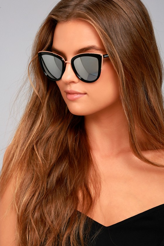 Perverse Thelma Black and Silver Mirrored Sunglasses 3