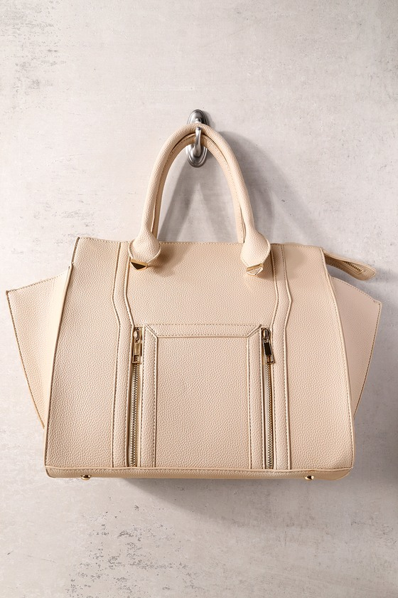 4b6977a89 Chic Nude Handbag - Winged Handbag - Vegan Leather Handbag - $40.00