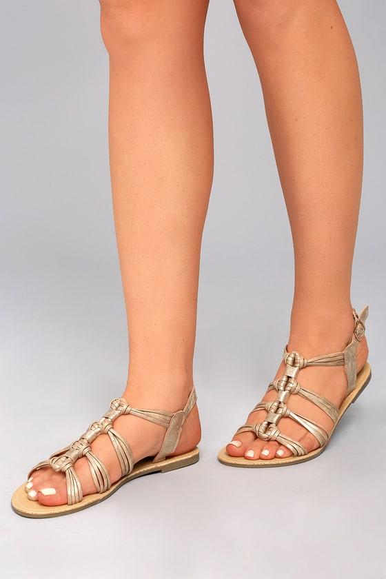 Tallulah Gold Flat Sandals 4
