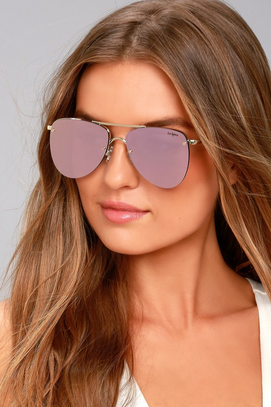 the le specs the prince aviator sunglasses gold sunglasses. Black Bedroom Furniture Sets. Home Design Ideas