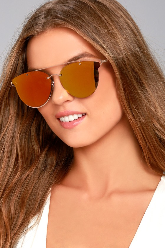 Super Powers Gold and Orange Mirrored Sunglasses 4