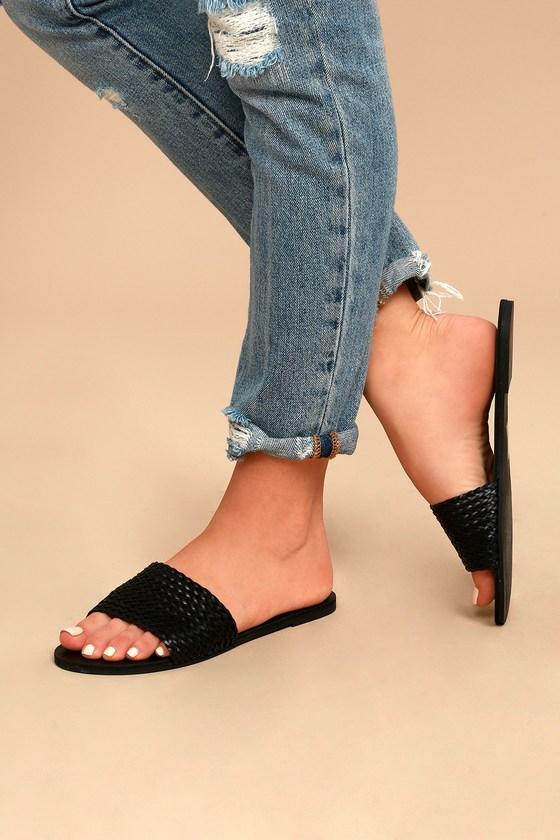 Black Sandals - Vegan Sandals - Lulus