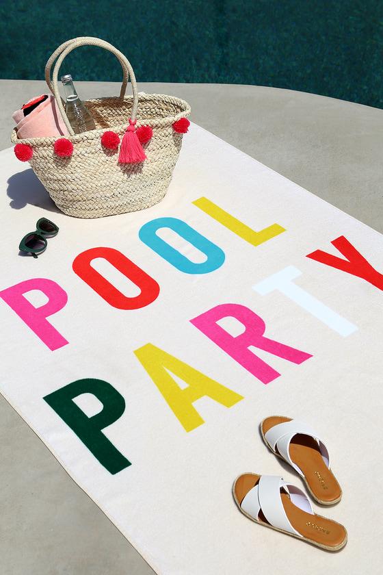 ban.do Beach, Please! Pool Party Cream Giant Beach Towel 3