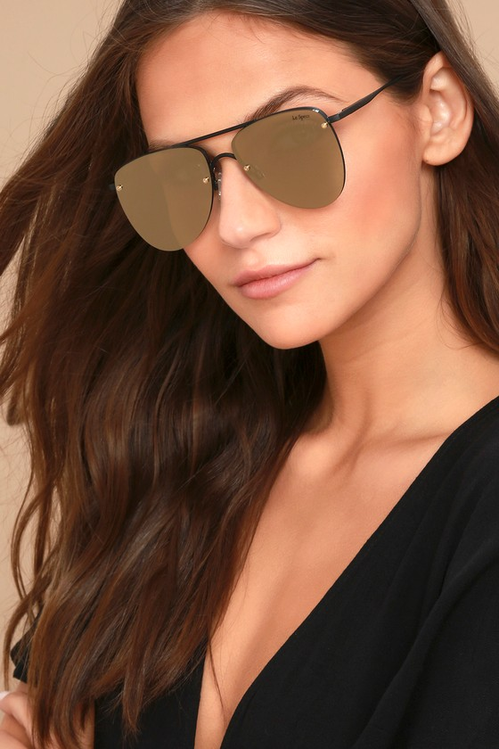 Le Specs The Prince Aviator Sunglasses Black Sunglasses