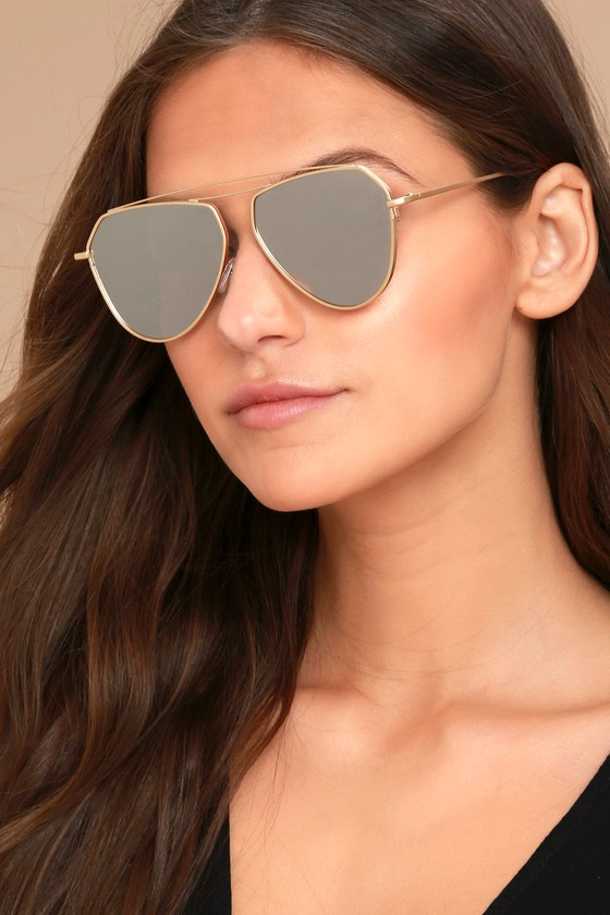 31c758961b Trendy Mirrored Sunglasses - Aviator Sunglasses