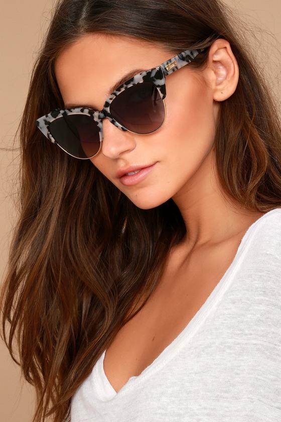 Sonix Dafni Black and White Tortoise Sunglasses 1