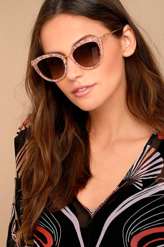 ce19a6b0c4 Sonix Melrose - Marbled Sunglasses - Cat-Eye Sunglasses