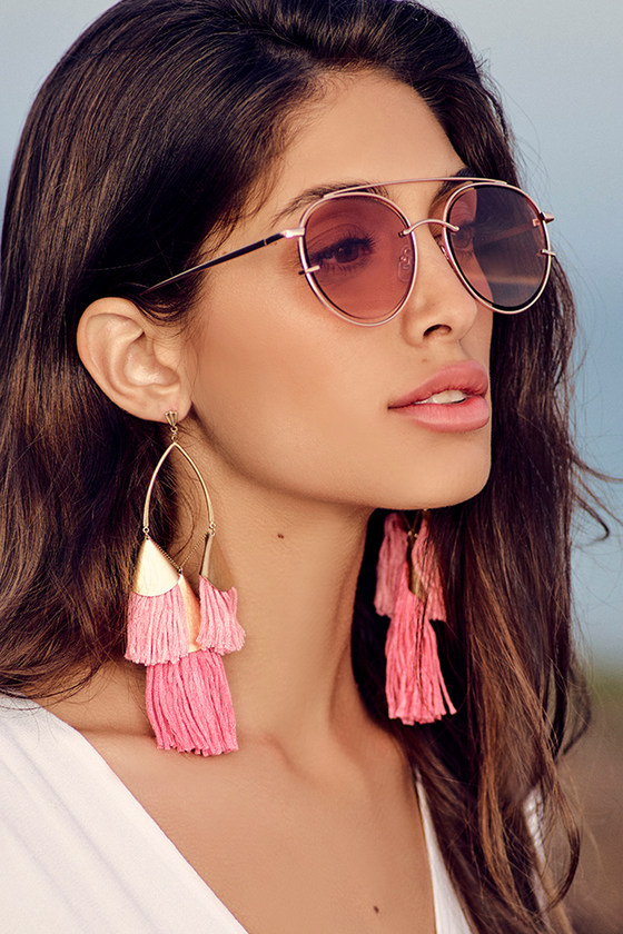 Ettika Destiny Around You Hot Pink and Gold Earrings 3