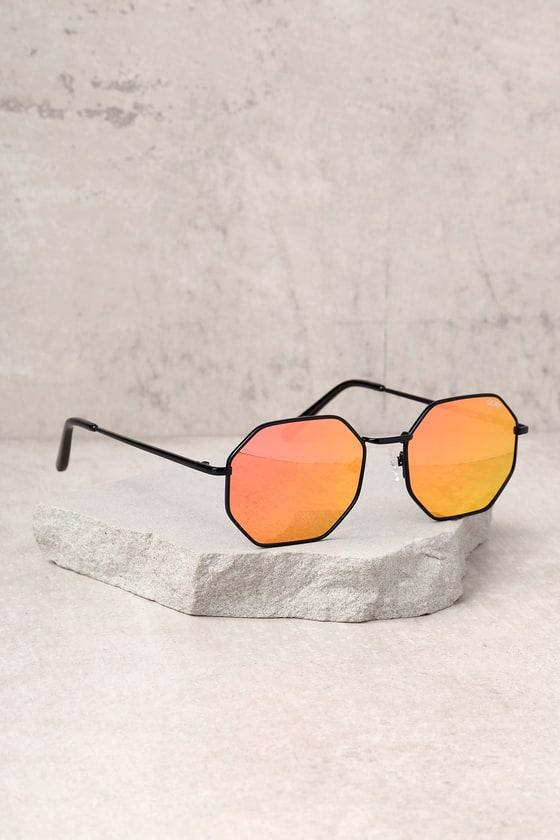 6c2ac3b7d42 Quay On a Dime Sunglasses - Geometric Sunglasses - Pink Sunglasses ...