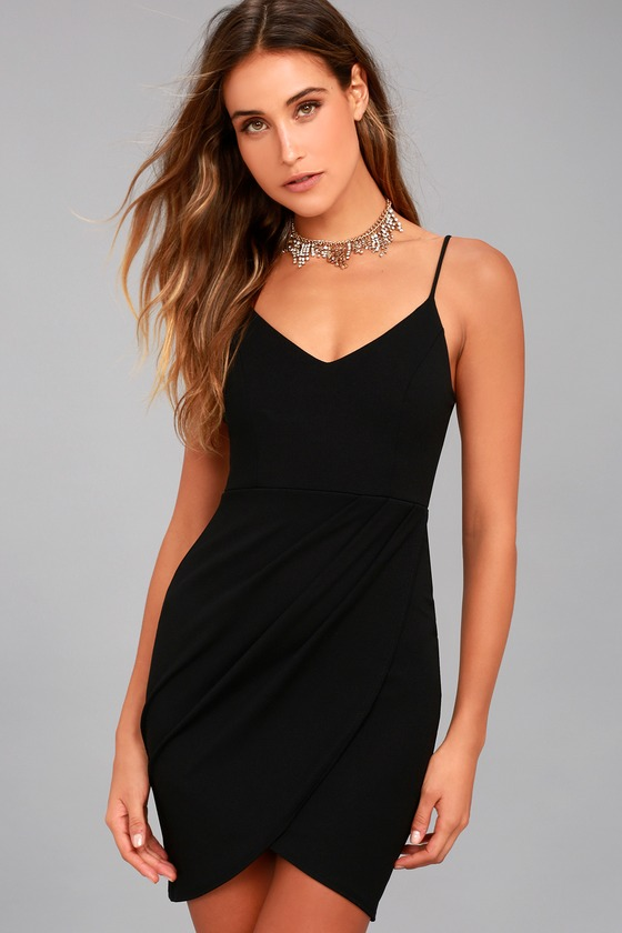 Forever Your Girl Black Bodycon Dress