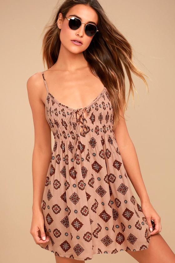 Amuse Society Baja Dress Boho Sundress Blush Pink Dress
