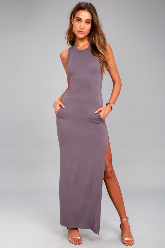 Shield and Sword Dusty Purple Sleeveless Maxi Dress 8