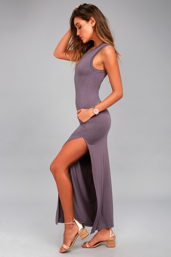 f4c401db90 Dusty Purple Dress - Maxi Dress - Sleeveless Dress -  40.00