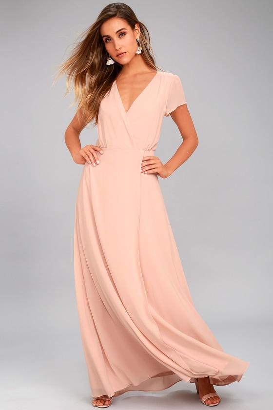 cac1dec6e78 Lovely Blush Dress - Maxi Dress - Short Sleeve Dress -  94.00