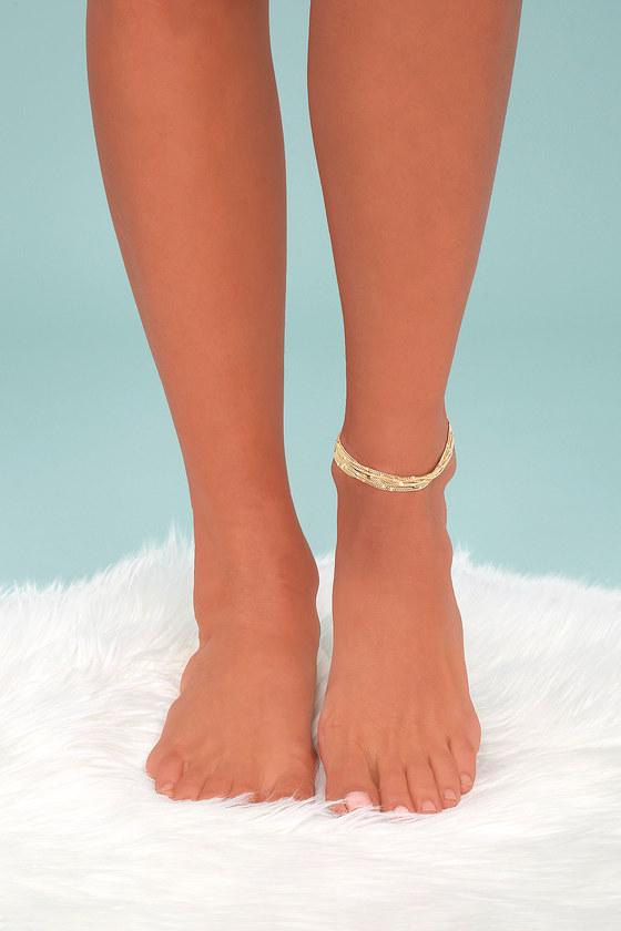 Sail Through Santorini Gold Ankle Bracelet 1