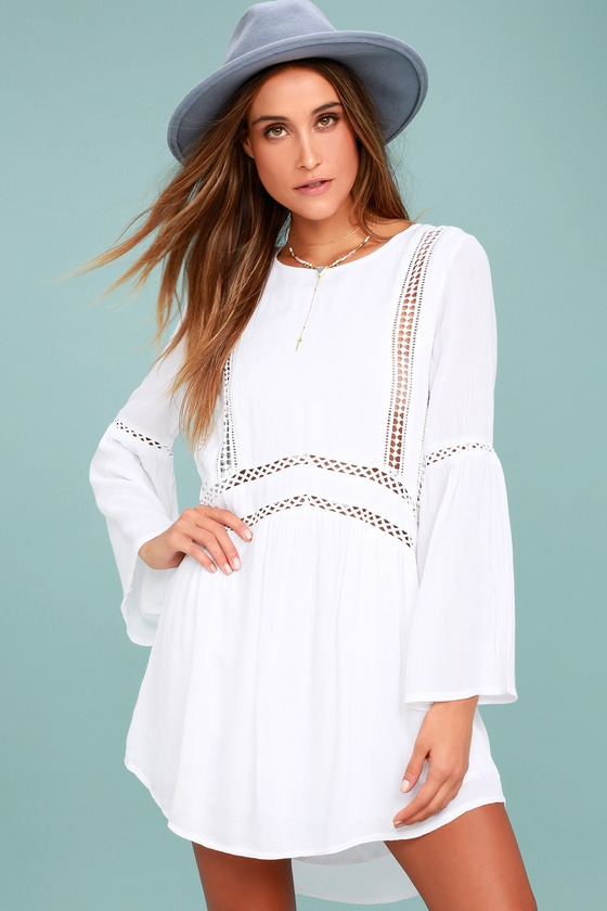 Amuse Society Kensington White Lace Dress 1