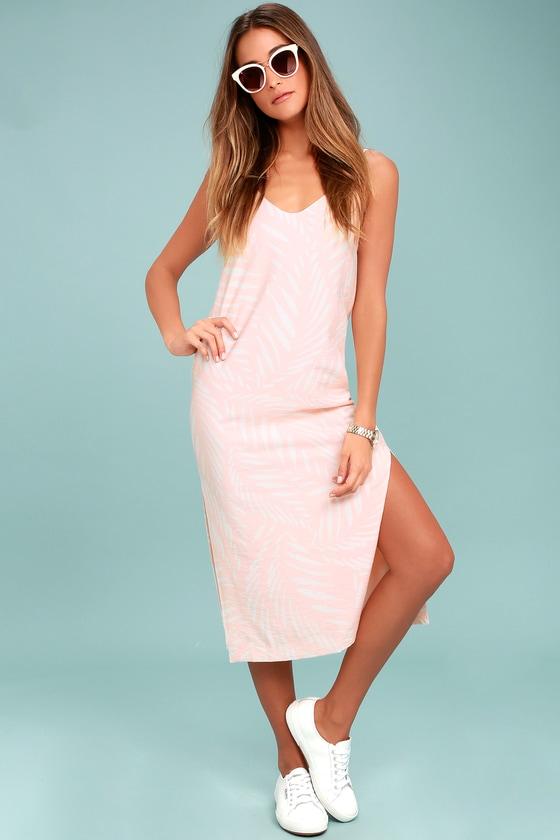 Finders Keepers Knox - Blush Pink Print Dress - Midi Dress 9bd547d1a