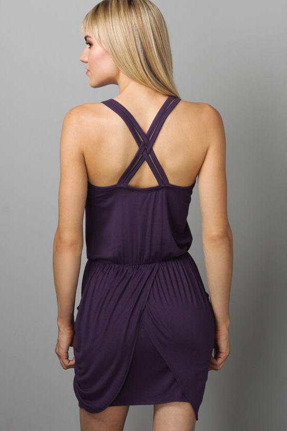 Who's Who Purple Dress at Lulus.com!
