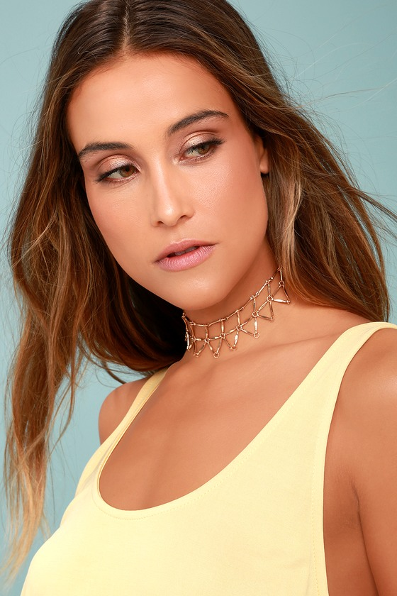 8 Other Reasons Web Gold Choker Necklace 1