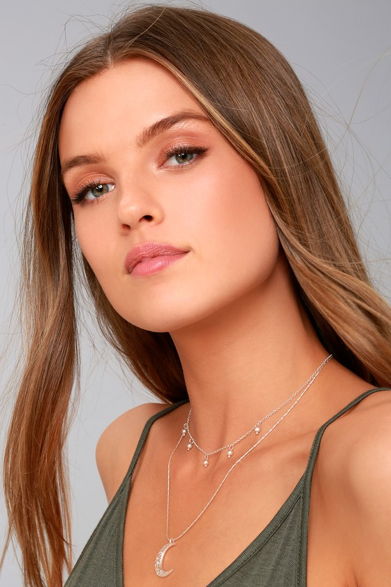 Celestial Charm Silver Layered Necklace 3