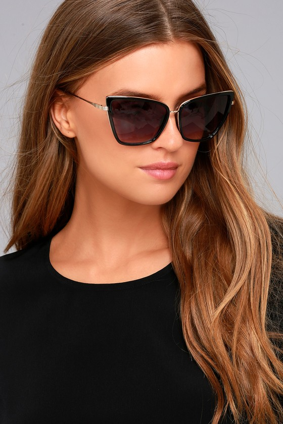 Hamptons Honey Black Cat-Eye Sunglasses 3