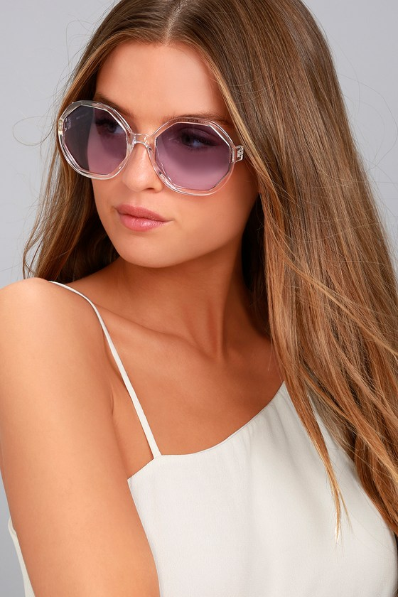 Crystal Dreams Clear and Purple Sunglasses 4