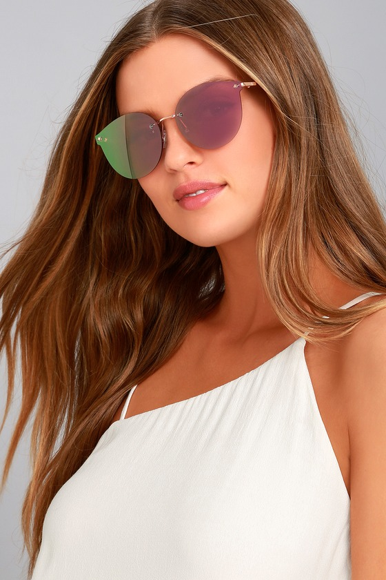 Candy Dreams Rose Gold and Pink Mirrored Sunglasses 1