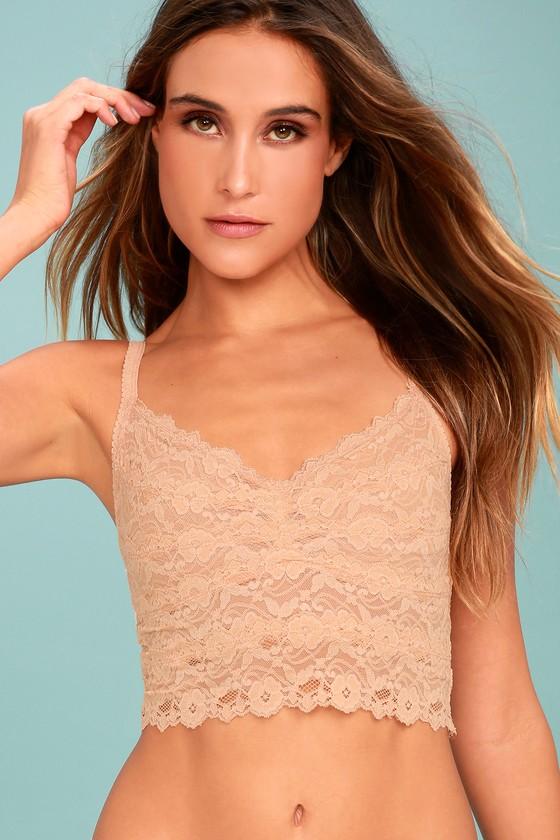 df3c31e360 Sexy Peach Lace Bralette - Sheer Lace Bralette - Lace Bra