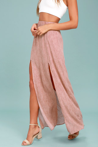 43bd0cab3596c Guide Me Home Blush Pink Maxi Skirt