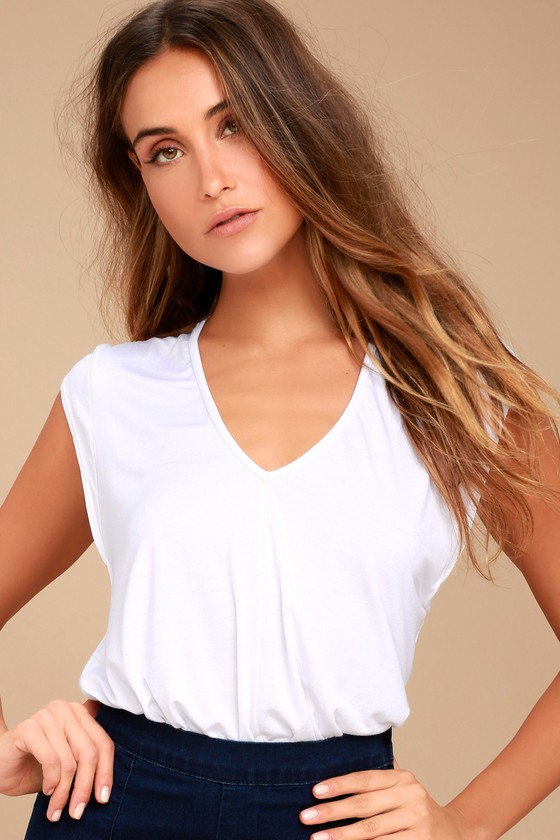 Free People Tees For My Jeans White Bodysuit 4