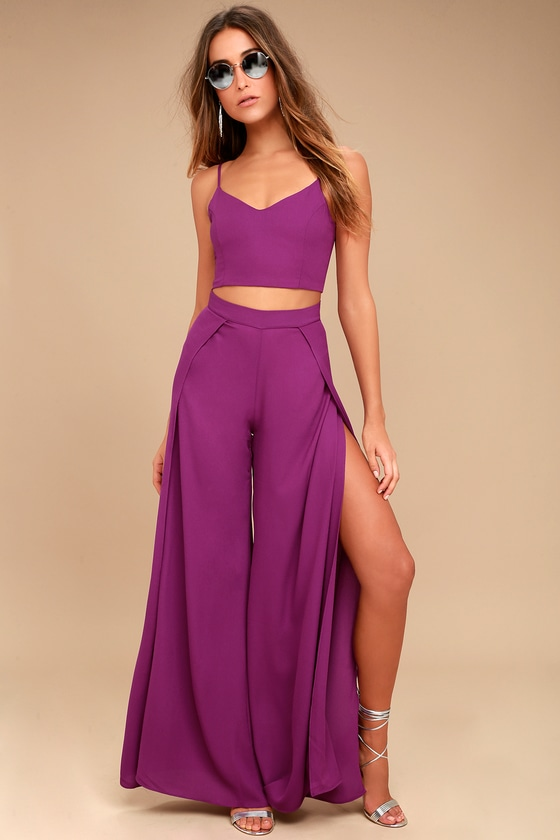 Out Tonight Magenta Two-Piece Jumpsuit 1