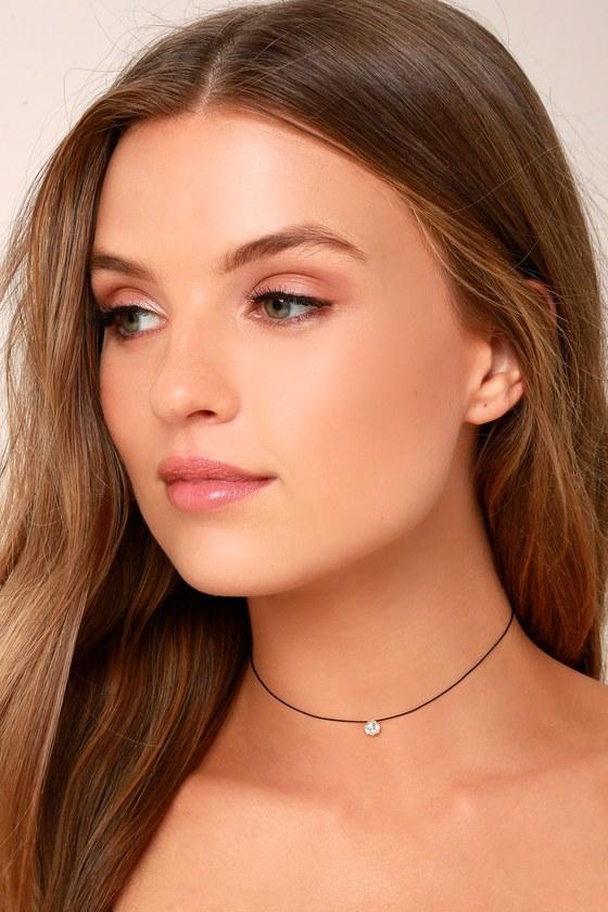 Charming Choice Black Rhinestone Choker Necklace 4