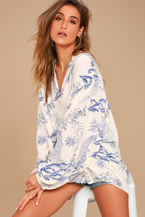 Lady Luck Tunic in Ivory. - size L (also in M,S,XS) Free People