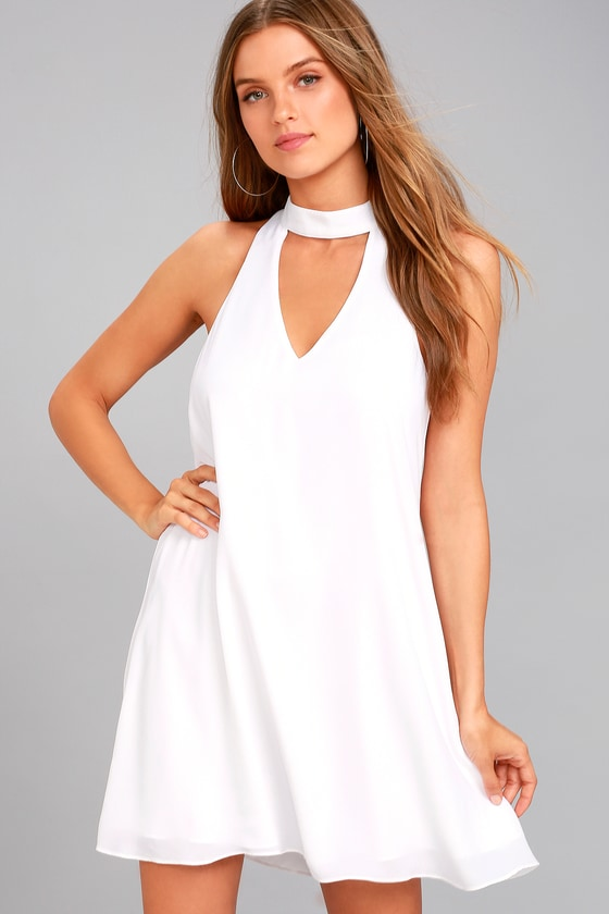 Groove Thing White Swing Dress 1