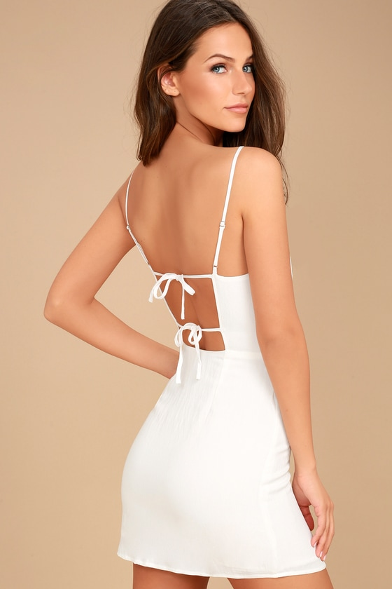 White Dress with Open Back