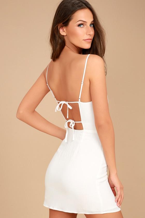 Sweetest Day White Mini Dress 1