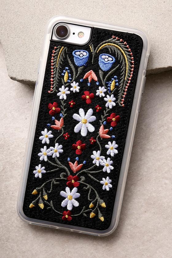 Zero Gravity Laurel Black Embroidered iPhone 7 Case 1
