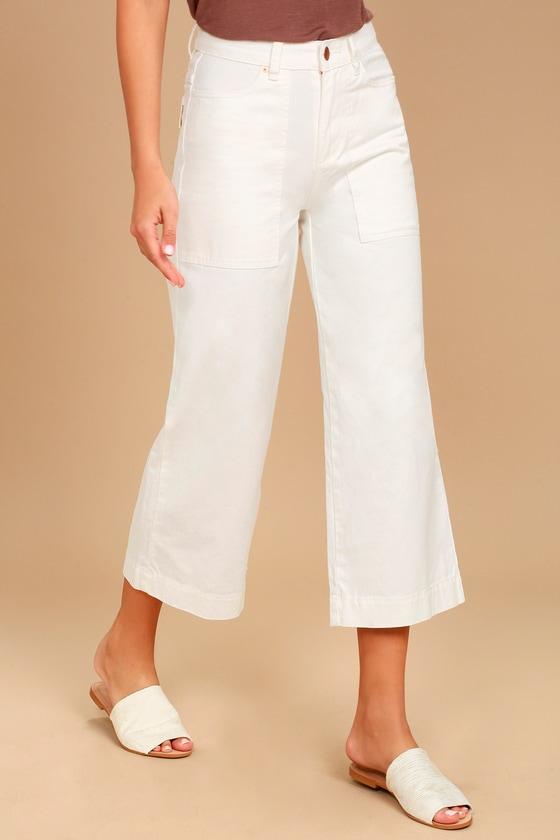 70203bbdf223 Billabong Stevie - White Jeans - Cropped Jeans