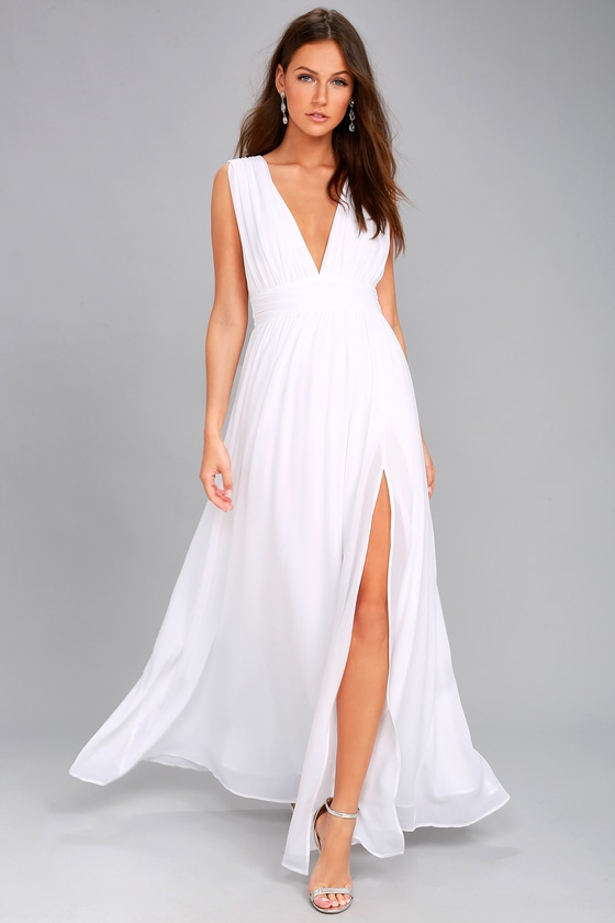 Heavenly Hues White Maxi Dress 1