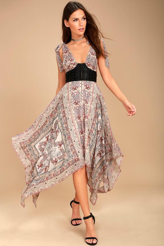 Free People You For Me Cream Print Maxi Dress 2