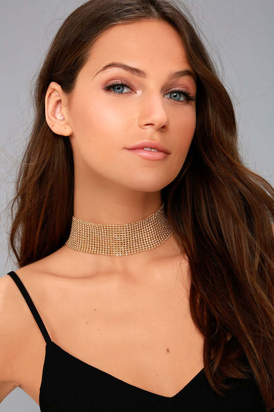 Party Down Gold Choker Necklace 1