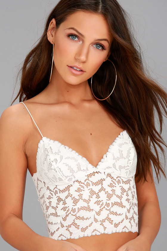 66a329ae63 Free People Lacey - White Bralette - Lace Bralette