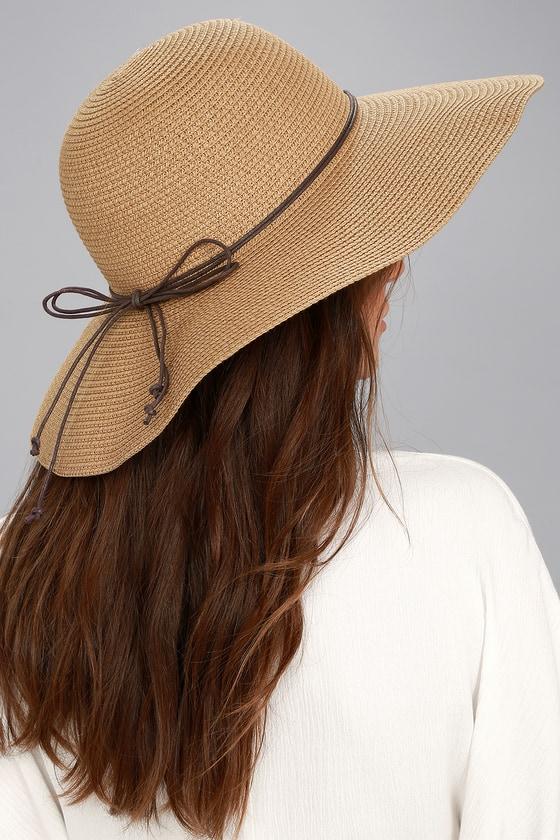 Sunny Street Tan Floppy Straw Hat 4
